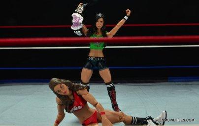 WWE Mattel Basic AJ Lee - with belt over Nikki Bella 2