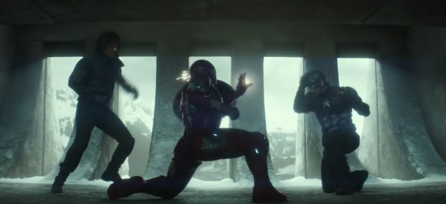 """Captain America Civil War"" - Bucky and Cap vs Iron Man"