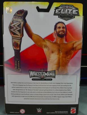 Seth Rollins Mattel exclusive - back package