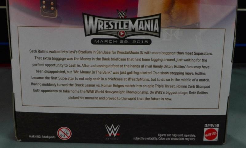 Seth Rollins Mattel exclusive - bio closeup