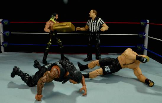 Seth Rollins Mattel exclusive -cashing in the briefcase