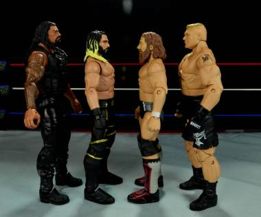 Seth Rollins Mattel exclusive -scale with Reigns, Bryan and Lesnar