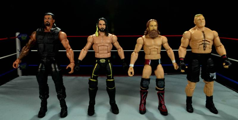 Seth Rollins Mattel exclusive -scale with Roman Reigns, Daniel Bryan and Brock Lesnar