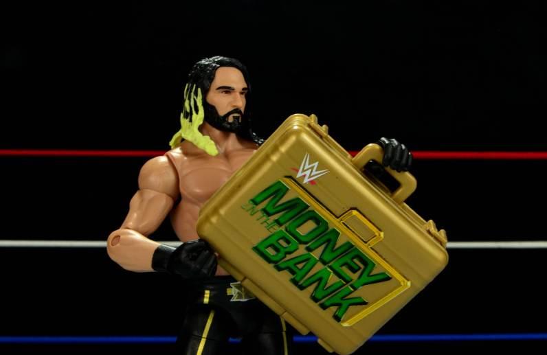 Seth Rollins Mattel exclusive - Seth holding MITB briefcase
