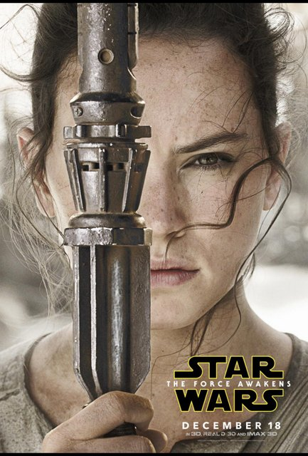 Star Wars Force Awakens poster - Rey