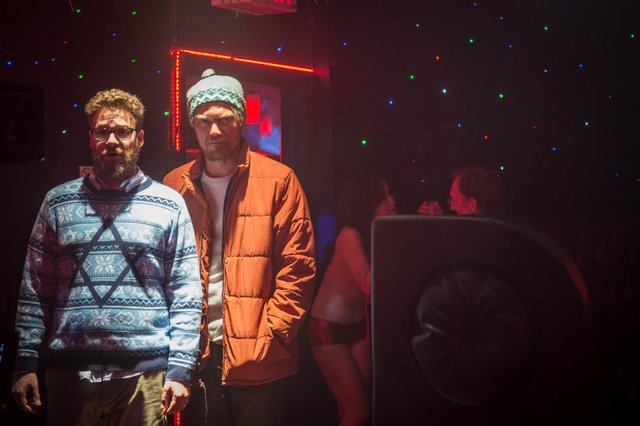 """Seth Rogen, left, and Michael Shannon star in Columbia Pictures' """"The Night Before,"""" also starring Joseph Gordon-Levitt and Anthony Mackie."""
