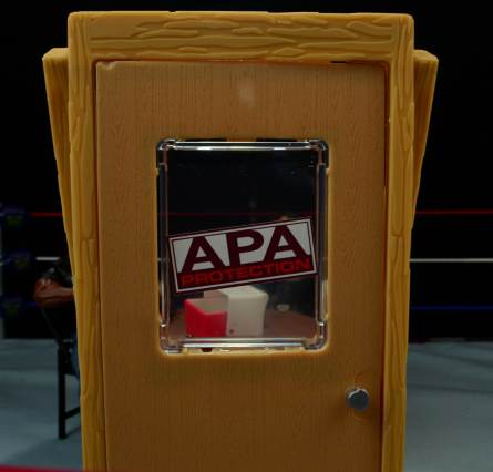 WWE Mattel APA -APA office door