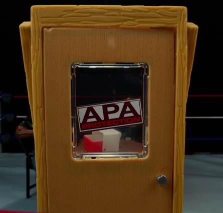 WWE Mattel APA -APA office door