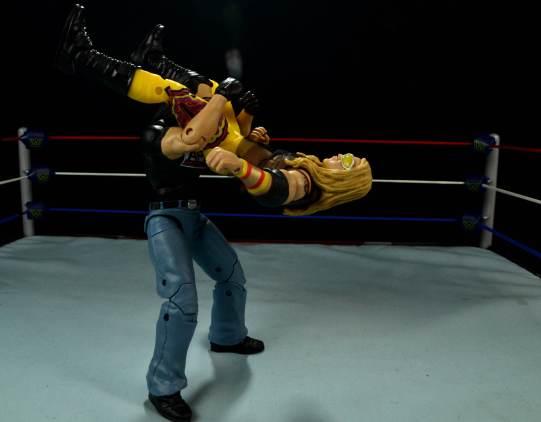 WWE Mattel APA -Bradshaw power bombs Christian