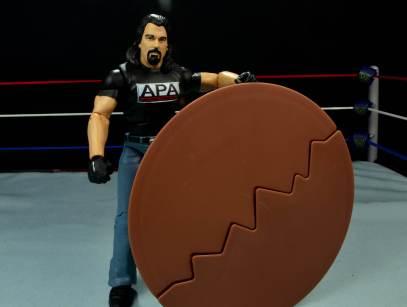 WWE Mattel APA -Bradshaw with table