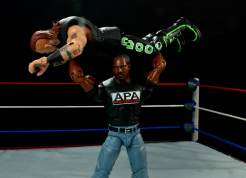 WWE Mattel APA -Faroog press slams Road Dogg