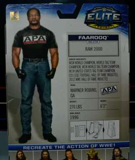 WWE Mattel APA - Farooq back package