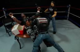 WWE Mattel APA -Farooq puts Devon Dudley through table