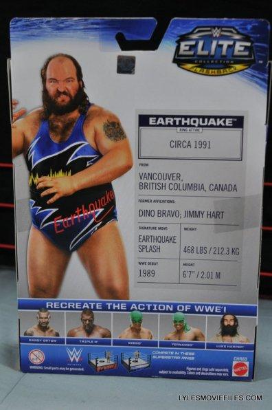 WWE Mattel Earthquake -rear package
