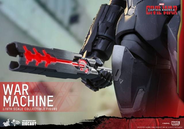 Captain America Civil War - War Machine -bat closeup