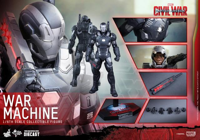 Captain America Civil War - War Machine -collage