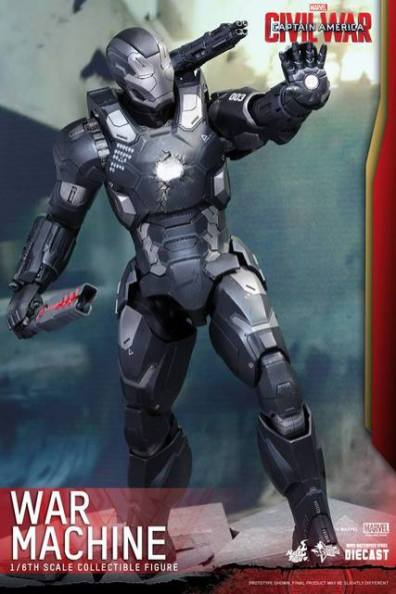 Captain America Civil War - War Machine -damaged chest piece