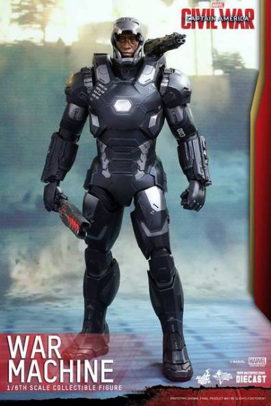 Captain America Civil War - War Machine -unmasked