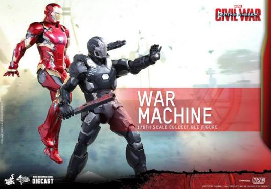 Captain America Civil War - War Machine -wide shot with Iron Man