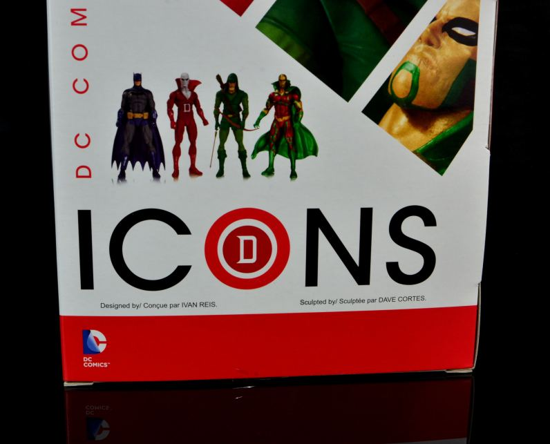DC Icons Deadman figure review -back package