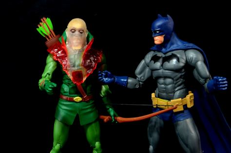 DC Icons Deadman figure review - possessed Green Arrow