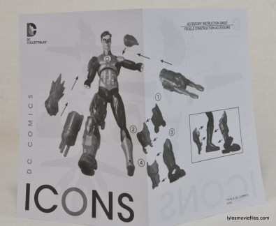 DC Icons Green Lantern figure review -instructions 1