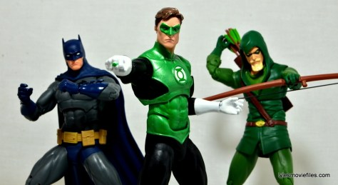 DC Icons Green Lantern figure review -with Batman and Green Arrow