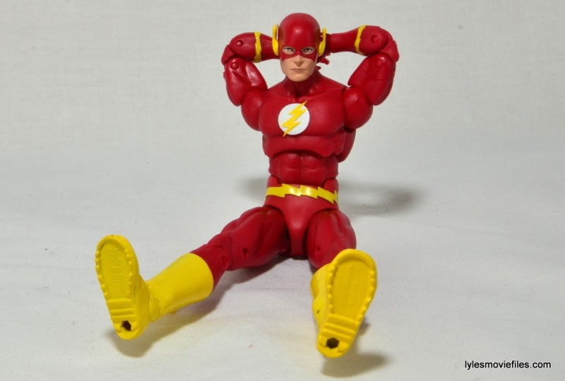 DC Icons The Flash figure review -laid back boot tread