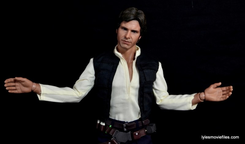 Hot Toys Han Solo and Chewbacca review -Han Solo shrug