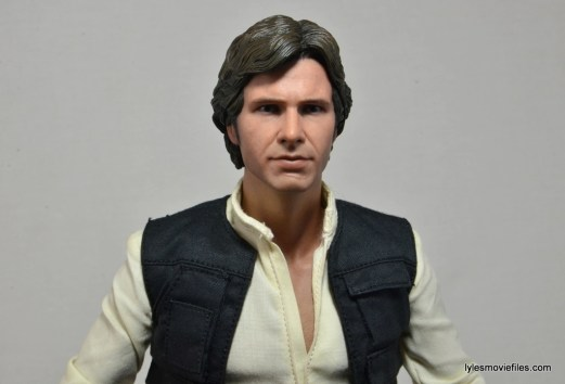 Hot Toys Han Solo and Chewbacca review -Han wide close up