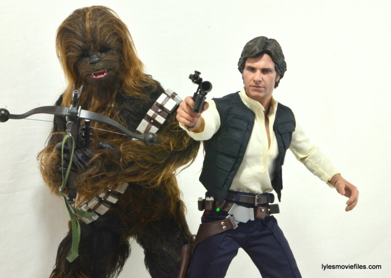 Hot Toys Han Solo and Chewbacca review -iconic shot