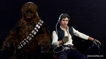Hot Toys Han Solo and Chewbacca review -in the cockpit