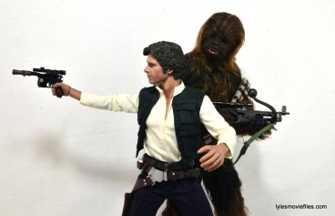 Hot Toys Han Solo and Chewbacca review -on the run