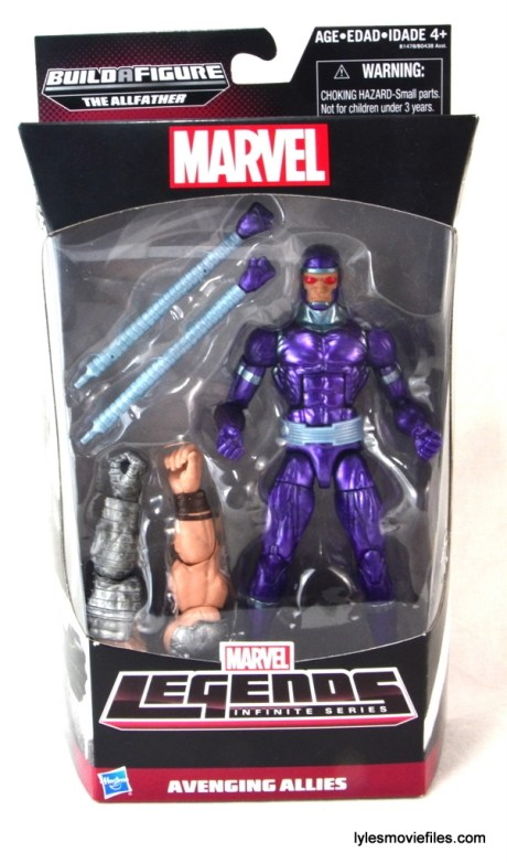 Machine Man Marvel Legends figure review - front package