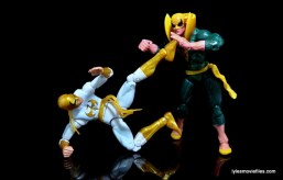 Marvel Legends Iron Fist figure review -fighting old Iron Fist