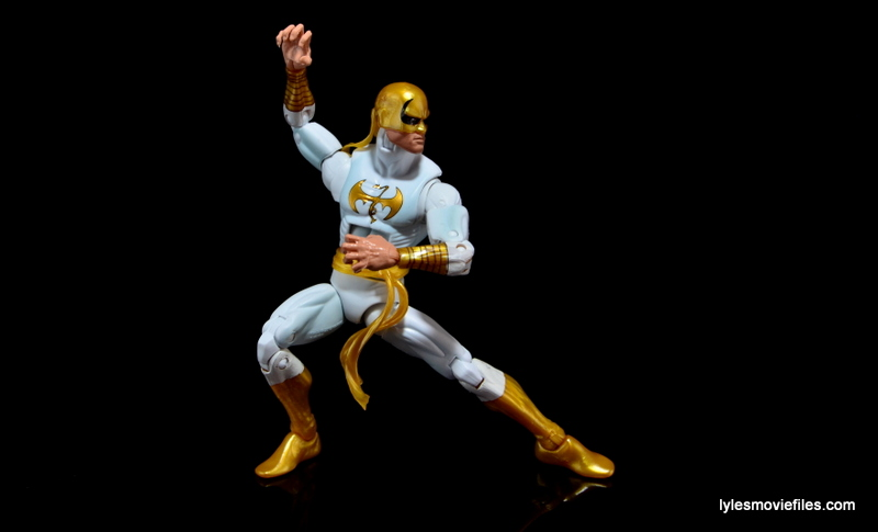 Marvel Legends Iron Fist figure review -fighting stance