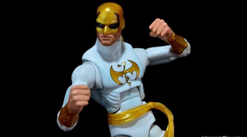 Marvel Legends Iron Fist figure review -fists up