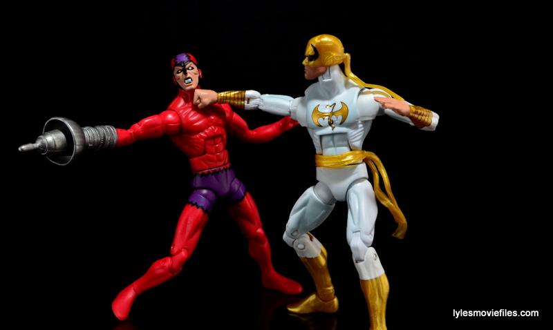 Marvel Legends Iron Fist figure review - vs Klaw