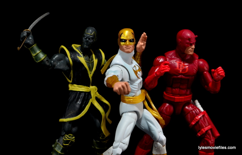 Marvel Legends Iron Fist figure review -with Ronan and Daredevil