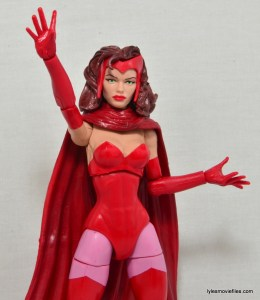 Marvel Legends Scarlet Witch figure review - arm up
