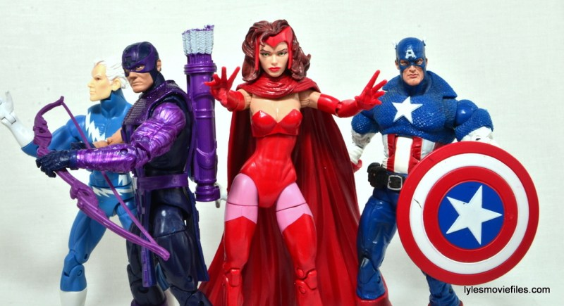 Marvel Legends Scarlet Witch figure review - Cap's Kooky Quartet - Quicksilver, Hawkeye and Captain America