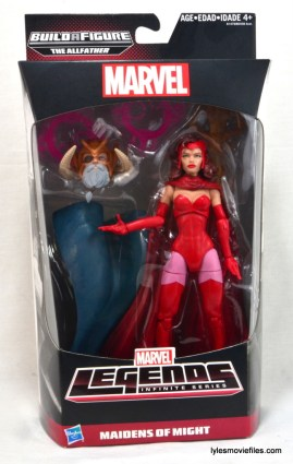 Marvel Legends Scarlet Witch figure review - front package
