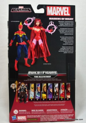 Marvel Legends Scarlet Witch figure review - rear packaging