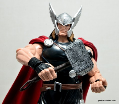 Marvel Legends Thor figure review - Mjolnir closeup