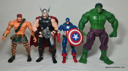 Marvel Legends Thor figure review -scale with Toy Biz Hercules, Captain America and Hulk
