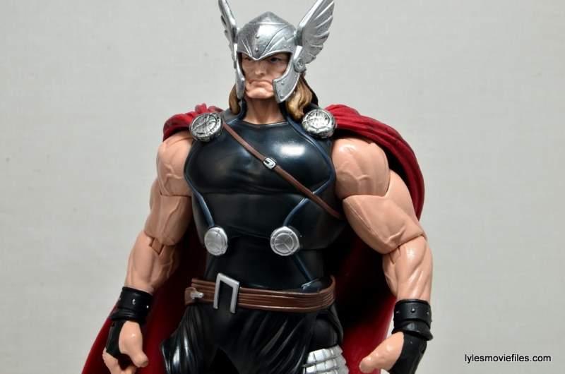 Marvel Legends Thor figure review -wide detail profile