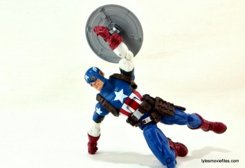 Marvel Legends three-pack Ms. Marvel, Captain America and Radioactive Man -Cap raising shield