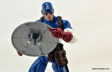 Marvel Legends three-pack Ms. Marvel, Captain America and Radioactive Man -Cap showing shield back
