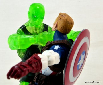 Marvel Legends three-pack Ms. Marvel, Captain America and Radioactive Man -Radioactive Man choking out Cap