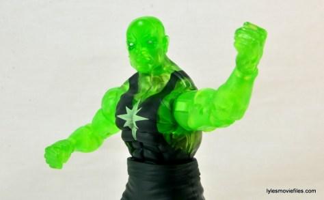 Marvel Legends three-pack Ms. Marvel, Captain America and Radioactive Man -Radioactive Man fist